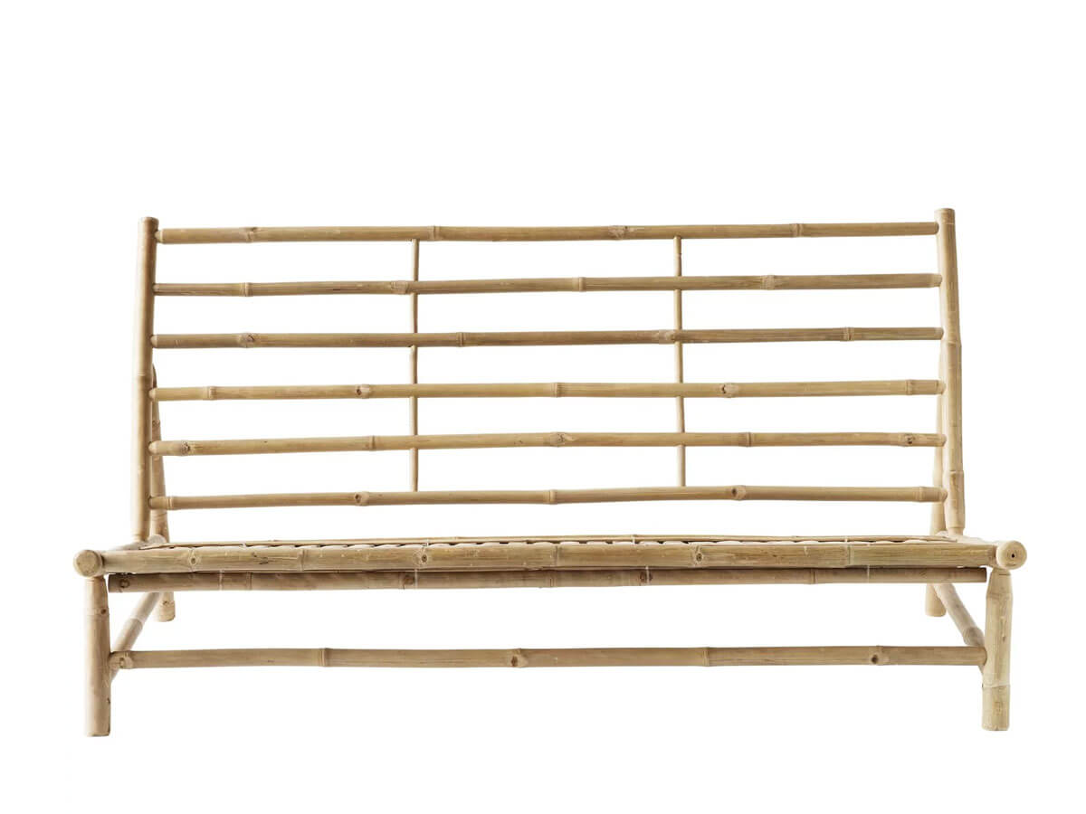 Bamboo Lounge Couch with Cushions