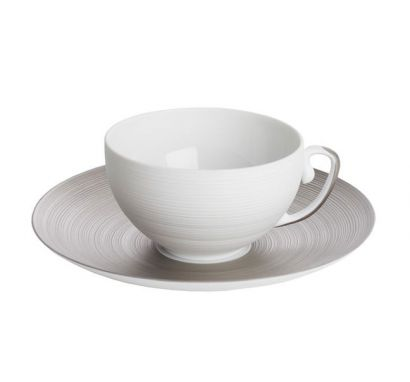 Hémisphère Platinum Tea Cup with Saucer Ø 16,5 cm