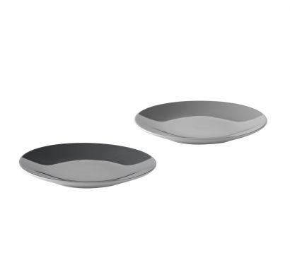 Emma Plate 2 pcs Grey Ø 18 cm - H. 2 cm