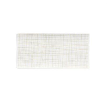 Mesh Line Cream Flat Plat L. 26 cm - P. 13 cm