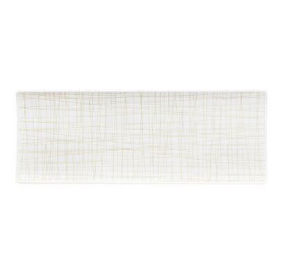 Mesh Line Cream Flat Plat L. 34 cm - P. 13 cm