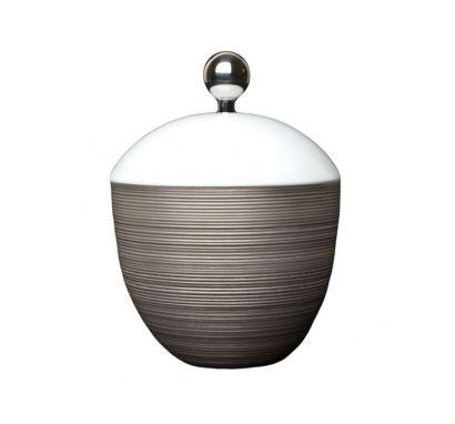 Hémisphère Platinum Sugar Bowl H. 13 cm