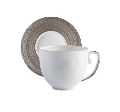 Hémisphère Platinum Espresso Cup with Saucer Ø 11,5 cm