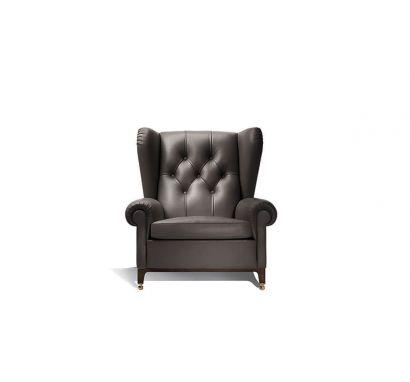 Roberto Lazzeron -  Poltrona Frau 2019 Armchair - Leather SC 26 Topo