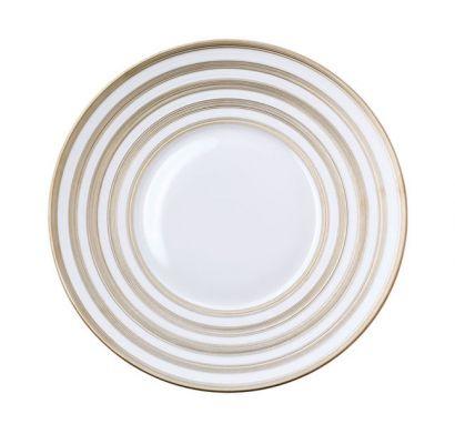 Hémisphère Platinum Stripe Presentation Plate Ø 31,5 cm