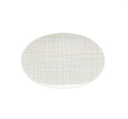 Mesh Line Cream Platter L. 25 cm