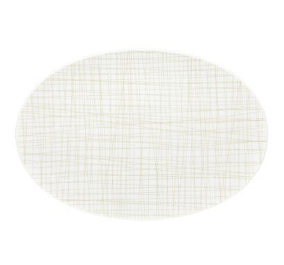 Mesh Line Cream Platter L. 34 cm