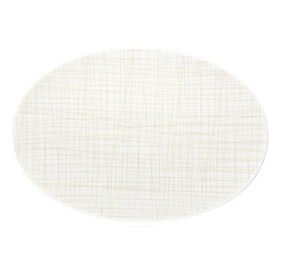Mesh Line Cream Platter L. 42 cm