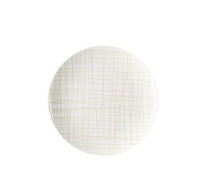 Mesh Line Cream Flat Plat Ø 21 cm