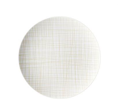 Mesh Line Cream Flat Plat Ø 27 cm