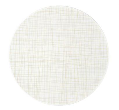 Mesh Line Cream Flat Plat Ø 33 cm