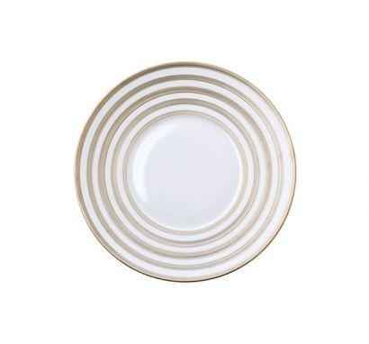 Hémisphère Platinum Stripe Bread Plate Ø 16 cm