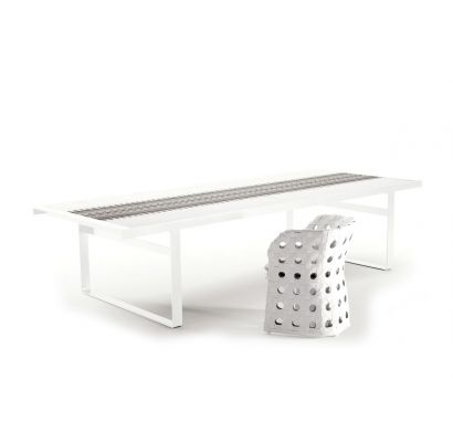 Canasta Outdoor Table White