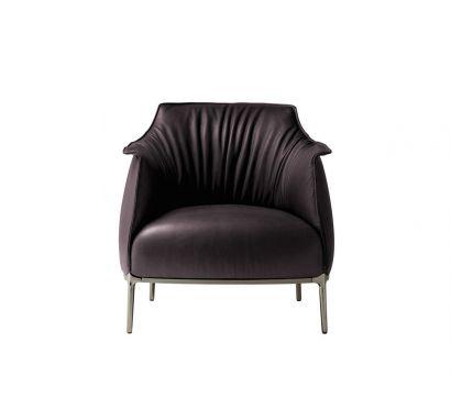 Archibald Armchair Leather SC 80 Bruno Havana