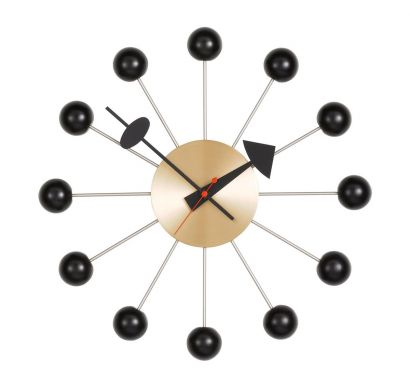 Ball Clock Nero