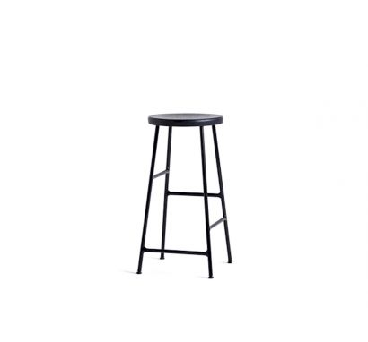 Hay Cornet Bar - Stool Black Steel/Solid Black Oak