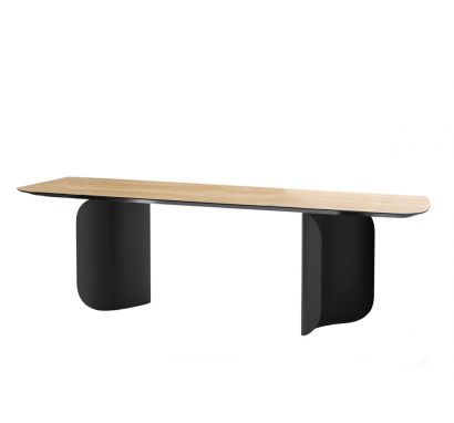Barry Table - Black/Canaletto Walnut - L. 240