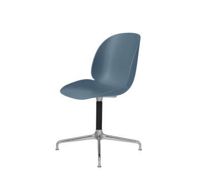 Beetle Dining Chair Sedia senza Rivestimento - Base Girevole