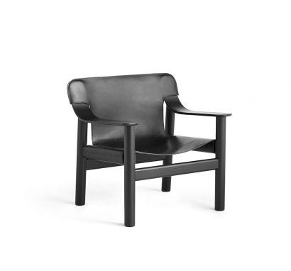 Hay Bernard Armchair - Deep Black Painted Solid Oak Black