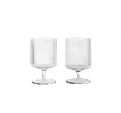 Ripple Wine Glasses Set of 2 - Clear