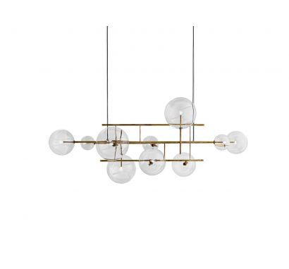 bolle orizzontale suspension lamp gallotti