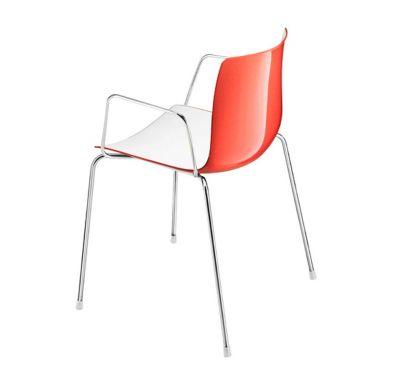 Catifa 46 Chair - Armrests Bicolor / Base White