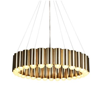 Carousel Brass Suspension Lamp