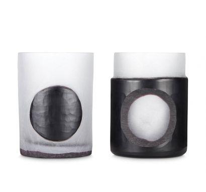 Carved Set of 2 Vases
