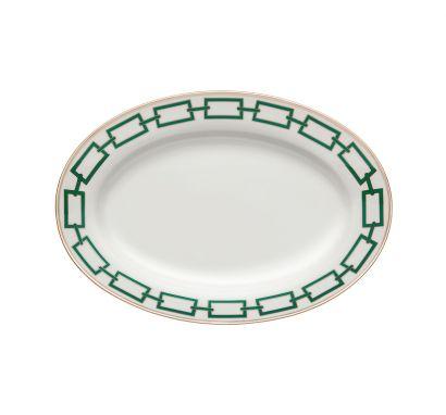 Catene Smeraldo Oval Tray L. 34 cm