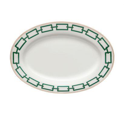 Catene Smeraldo Oval Tray L. 40 cm