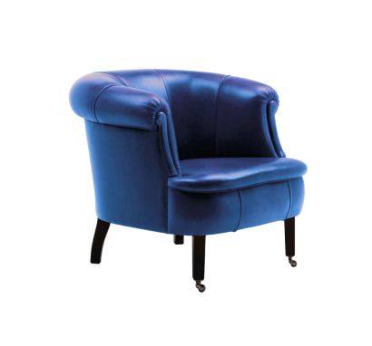 Club Armchair Leather SC 247 Cobalto