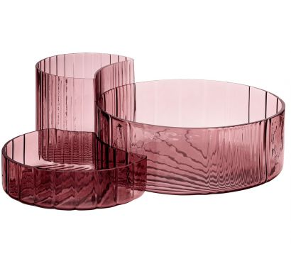 Concha Bowls & Dishes Pink - Set of 3