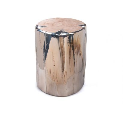 Cube Big Round Stool - Metallized