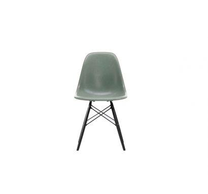 Eames Fiberglass Side Chair DSW Black Maple - Sedia