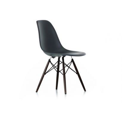Eames Plastic Side Chair DSW Black Maple