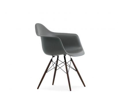 Eames Plastic Armchair DAW - Gambe Acero Scuro