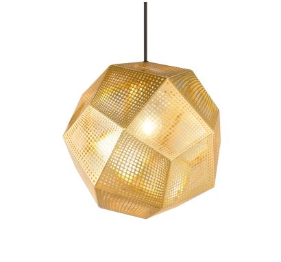 ETCH Shade Brass Suspension Lamp