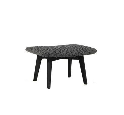 Knit Footstool - Stromboli Black