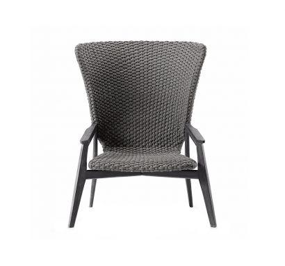 Knit Lounge High Back Armchair - Stromboli Black