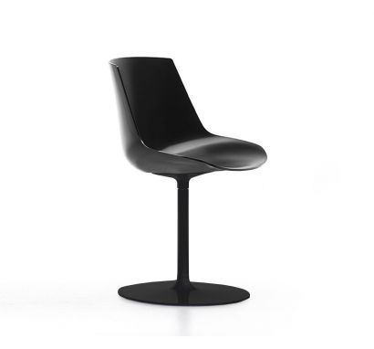 Flow Chair - Stelo Grafite Opaco/ Scocca Nero