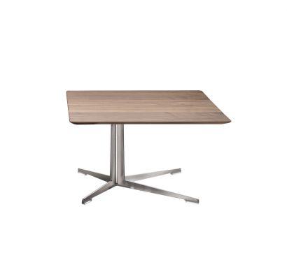 Fly Coffee Table - 80x80 Canaletto Walnut/Satin