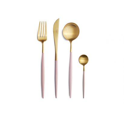 Goa Pink Matte Gold Set 24 Cutlery