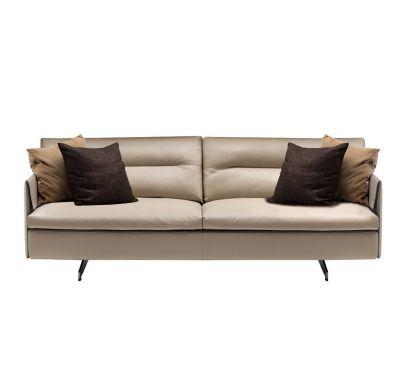 Grantorino 2 Seater Sofa Large High Arms - Leather Nest Madreperla
