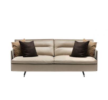 Grantorino 2 Seater Sofa High Arms - Leather Nest Madreperla