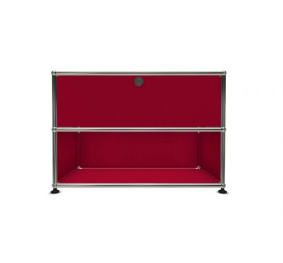 Haller Bedside Table with Drawer - 23 Ruby red