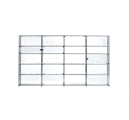 USM Haller E Glass 2 Libreria - Trasparente
