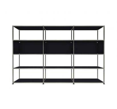 haller bookcase L black