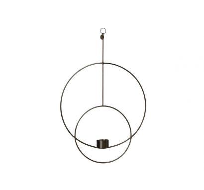 Hanging Tealight Deco Circular - Black