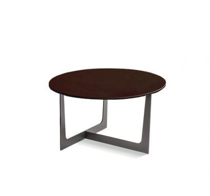 Poltrona Frau Ilary Coffee Table - Saddle Extra Testa di Moro / Ø 80