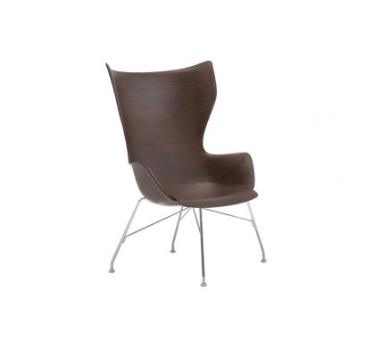 Philippe Starck - Kartell K/Wood Armchair - SC Dark Wood/Chrome